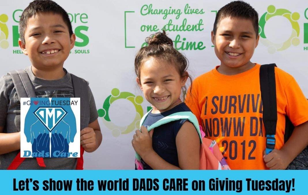 DMD Gives Back 2018 on #GivingTuesday – DMD Dads Care about Give More Hugs